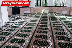 اجرای سجاده فرش تشریفاتی مسجد طرح یاسین سبز