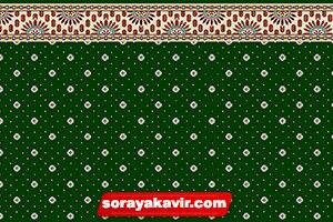 سجاده فرشی فرش سجادهای مسجد بدون محراب طرح نگین زمرد با رنگ زمینه سبز یشمی