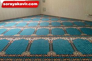 سجاده فرش آبی برای مسجد طرح محراب