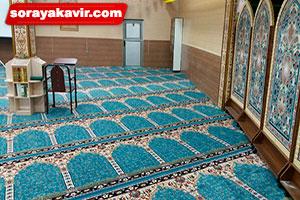 سجاده فرش برای مساجد با رنگ آبی طرح آسایش