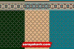 سجاده فرش تشریفاتی طرح شمسه (2) فرش مسجدی