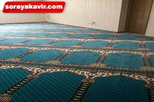 سجاده فرش مسجدی آبی طرح محراب