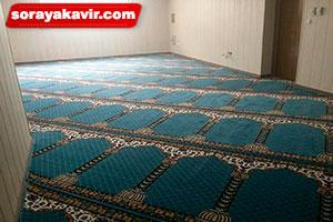 سجاده فرش مسجد رنگ آبی طرح محراب
