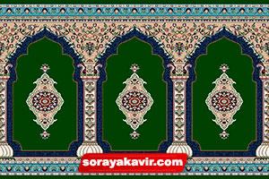 سجاده فرش مسجد رنگ سبز عرفان