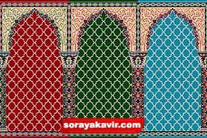 سجاده فرش مسجد فرش سجاده ای کاشان طرح مناجات