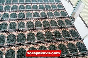 خرید فرش سجاده ای مسجد با رنگ سبز