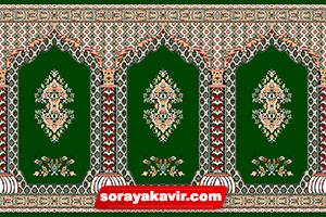 سجاده فرش کاشان - سجاده فرش محرابی سبز یشمی طرح سلطان