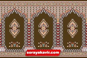 سجاده فرش کاشان - سجاده فرش محرابی قهوه ای شکلاتی طرح سلطان