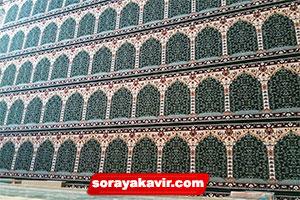 فرش سجاده ای سبز برای مسجد