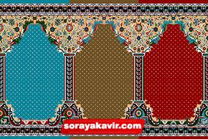 فرش سجاده کاشان - سجاده فرش محرابی طرح طوبی