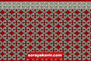 فرش مسجدی تشریفاتی قرمز زرشکی طرح ستایش