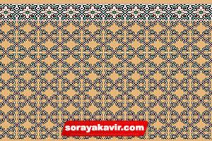 فرش مسجدی تشریفاتی رنگ کرم طرح ستایش