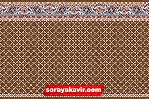 فرش مسجد تشریفاتی مسجد رنگ قهوه ای طرح مکی