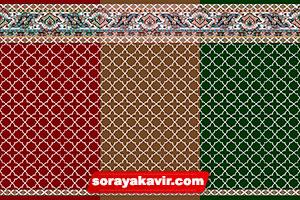 فرش مسجد تشریفاتی طرح مکی فرش سجاده ای مساجد