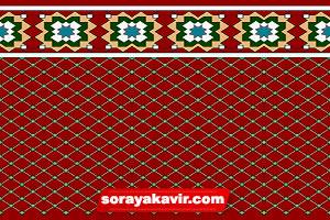 فرش نمازخانه ای با رنگ قرمز زرشکی طرح فردوس