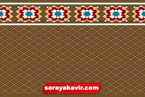 فرش مسجدی تشریفاتی رنگ قهوه ای گردویی طرح فردوس