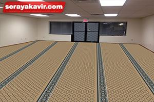 نمونه مسجد فرش شده با سجاده فرش تشریفاتی طرح شمسه