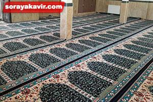 نمونه مسجد فرش شده با سجاده فرش محرابی طرح آسایش
