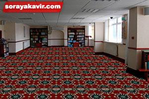 نمونه مسجد فرش شده با سجاده فرش تشریفاتی طرح پردیس ترنج