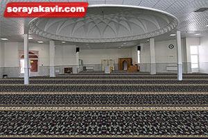نمونه مسجد فرش شده با فرش مسجد تشریفاتی طرح افشان