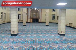 نمونه مسجد فرش شده با سجاده فرش محرابی طرح مناره