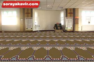 نمونه مسجد فرش شده با سجاده فرش محرابی طرح طوبی