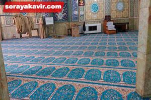نمونه مسجد فرش شده با سجاده فرش محرابی طرح طاها