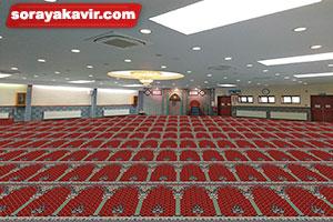 نمونه مسجد فرش شده با سجاده فرش محرابی طرح خضرا