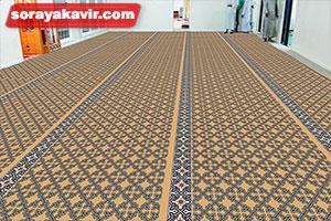 نمونه مسجد فرش شده با فرش مسجد تشریفاتی طرح ستایش