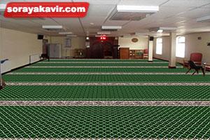 نمونه مسجد فرش شده با فرش مسجد تشریفاتی طرح مکی