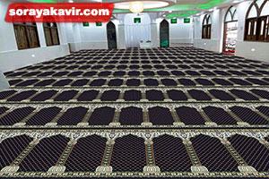 نمونه مسجد فرش شده با سجاده فرش محرابی طرح محراب