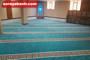 نمونه مسجد مفروش شده با فرش نمازخانه ای طرح فردوس