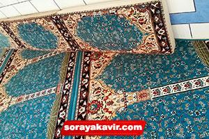 نمونه پشتی مسجدی هم طرح با فرش سجاده ای