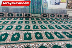 پشتی هم طرح با سجاده فرش مسجد