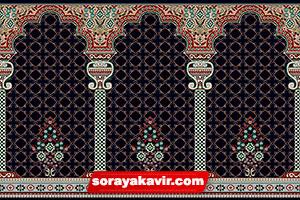 Islamic Carpet For Mosque - Black