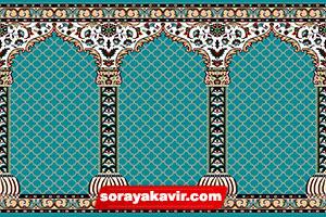 Musalla Masjid Carpets - Blue