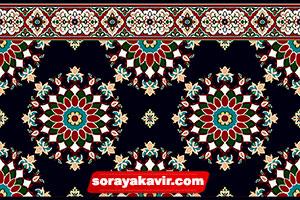 Pardis prayer mat for masjid - Black