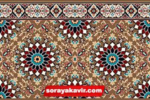 Tile prayer mat for mosque - Brown