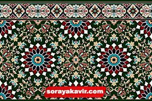 Tile prayer mat for mosque - Green