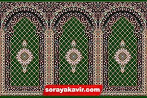 فروش سجاده فرش کاشان رنگ سبز طرح کرمان