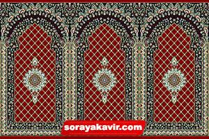 فروش فرش مسجد کاشان رنگ قرمز طرح کرمان