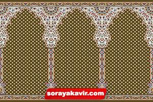فرش ماشینی نمازخانه ای با رنگبندی قهوه ای
