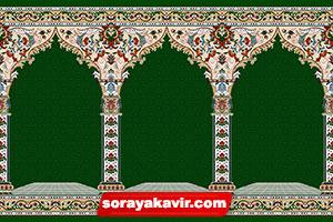 سجاده فرش مساجد با رنگبندی سبز یشمی