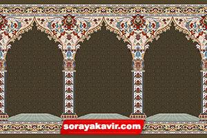 سجاده فرش محرابی مساجد با رنگبندی گردویی