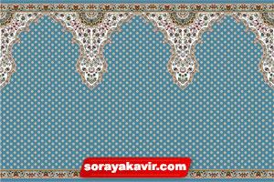 فرش طرح سجاده مسجد با رنگ آبی