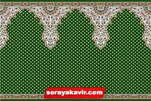 فرش طرح سجاده برای مسجد با رنگبندی سبز
