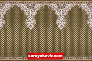 فرش طرح سجاده برای نمازخانه با رنگ گردویی